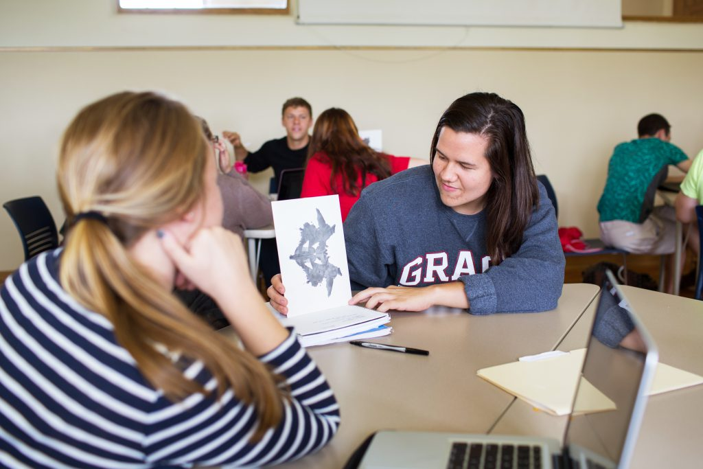 Grace College students learn about Picture Personality in psychology Major