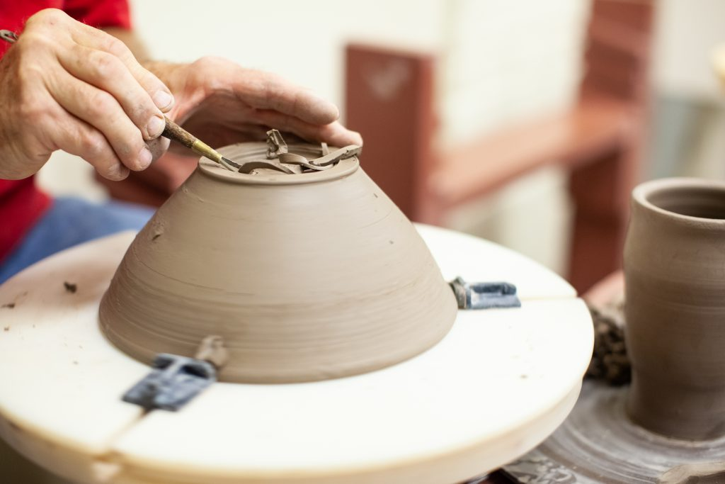 Pottery being made