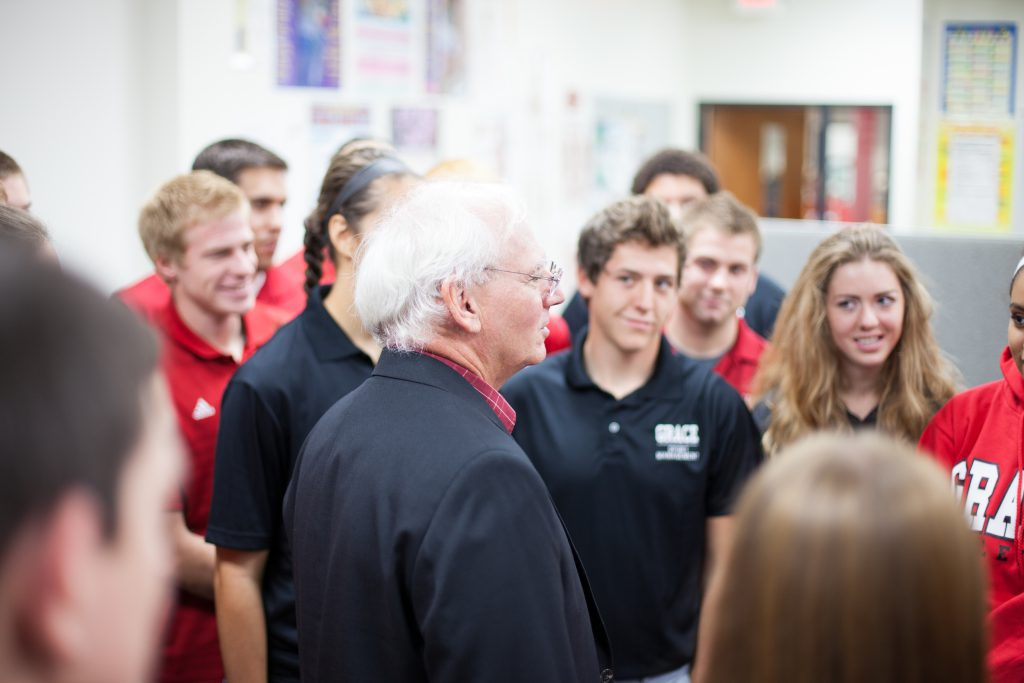 Students with Dr. Johnson in Sport Business Major