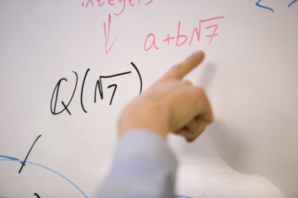 Math on a whiteboard, Mathematics Major
