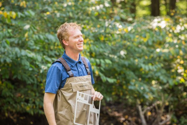 Dr. Bosh in ecology lab outside