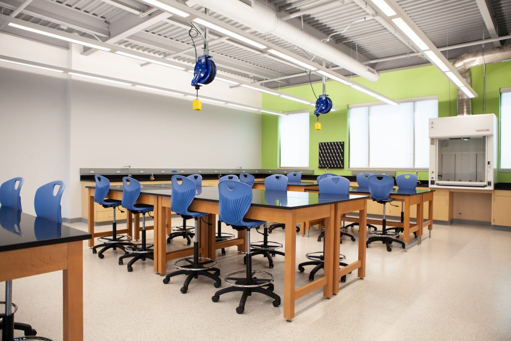 Science classroom in the Science Center