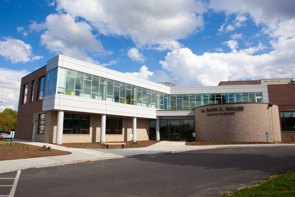 Front of the Science Center addition