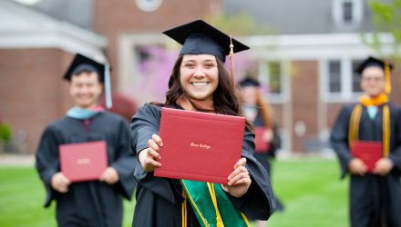 Commencement - Accelerated Bachelors Degree at Grace College, with 96% career placement rate