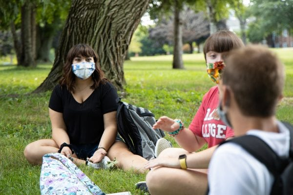 Grace College Students with Masks