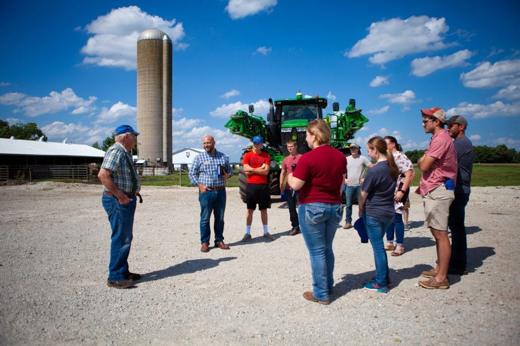 Tobe Forshtay Sustainable Agriculture Students learn about Ag business degree