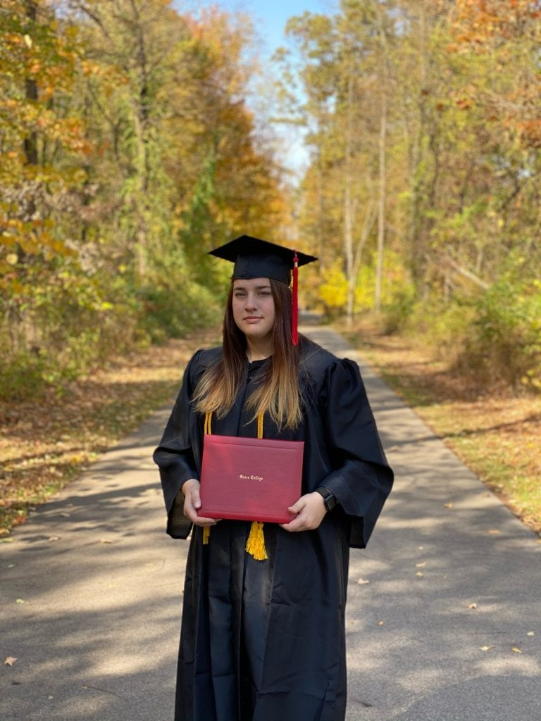 Law Enforcement Major Josi Anderson Dispatches for Carroll County, with her bachelor's degree in criminal justice