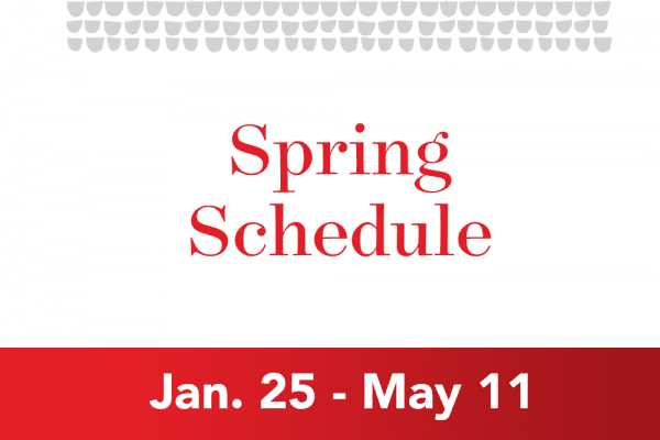 Grace College Spring-Schedule-Graphic